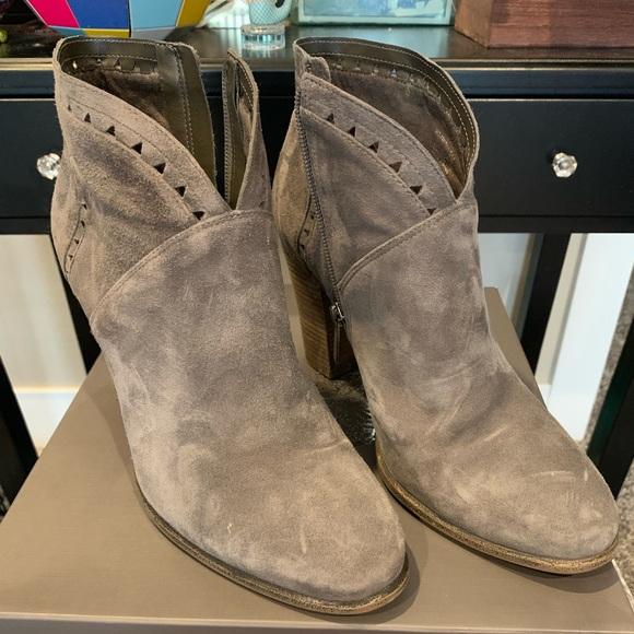 daeb98df6d53 Vince Camuto Shoes | Fritan Bootie Greystone Suede | Poshmark